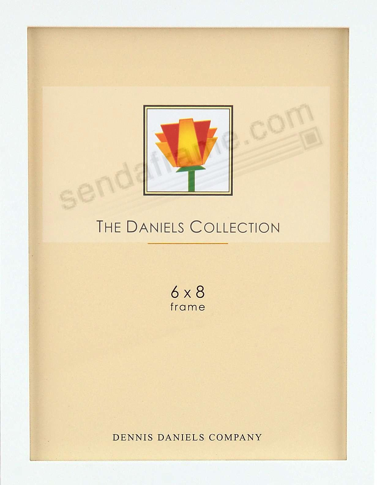 The Original DANIELS W41: Square Corner GALLERY WOODS Bright White finish 6x8 by Dennis Daniels®
