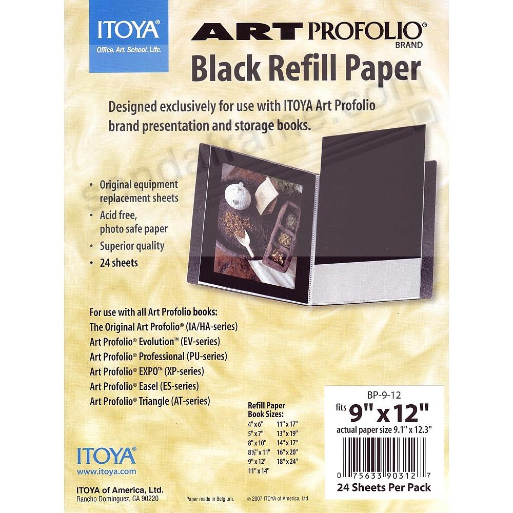 Genuine ITOYA® Black Refill Paper for 9x12 albums
