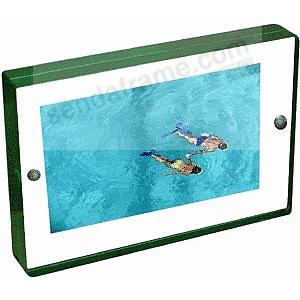 The acrylic MAGNET FRAME with green edge by Canetti®