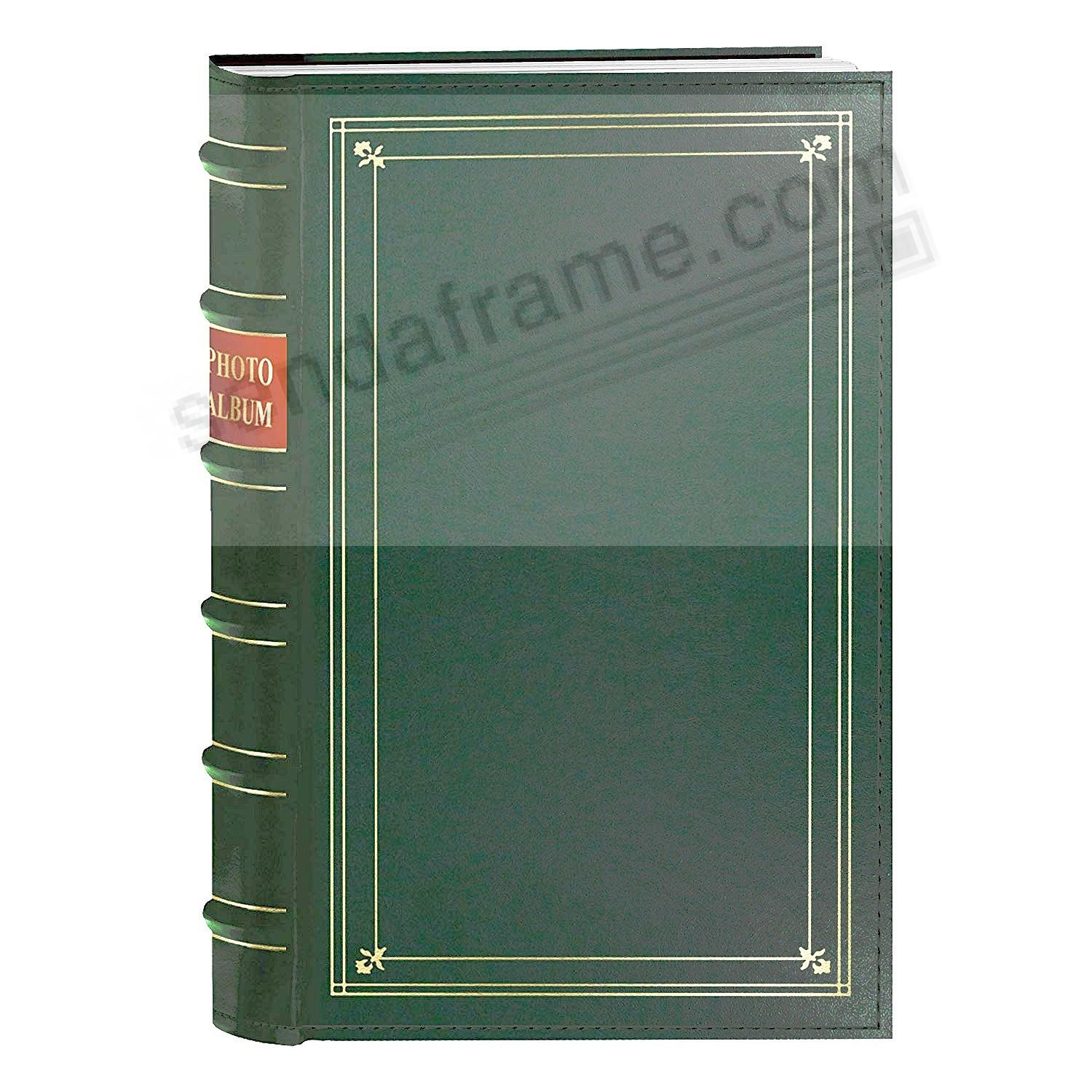 3-Ring Hunter Green Leather BI-DIRECTIONAL memo pocket album
