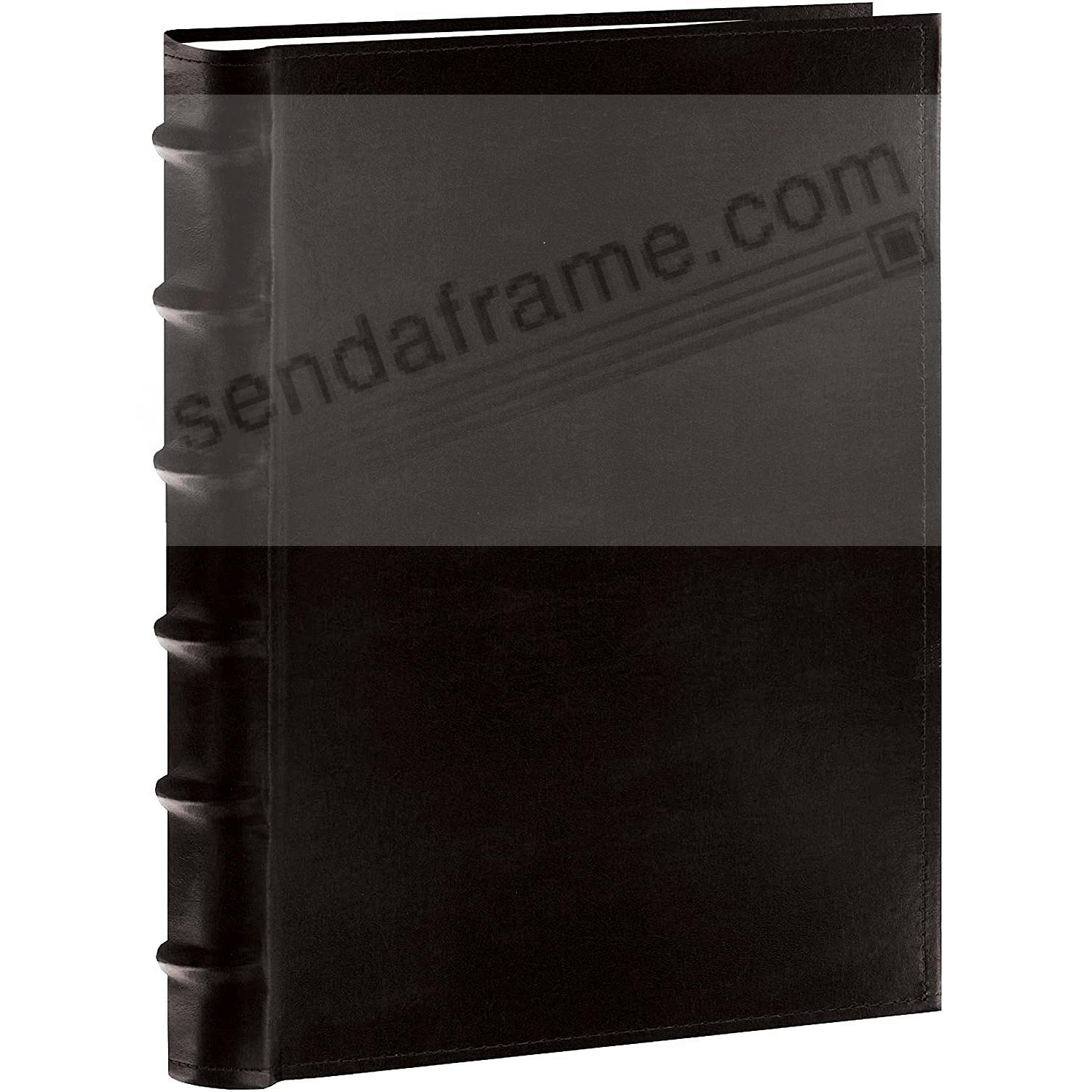 Black Leather BI-DIRECTIONAL 300 capacity slide-in pocket albums with Memo for 4x6 and panoramic prints