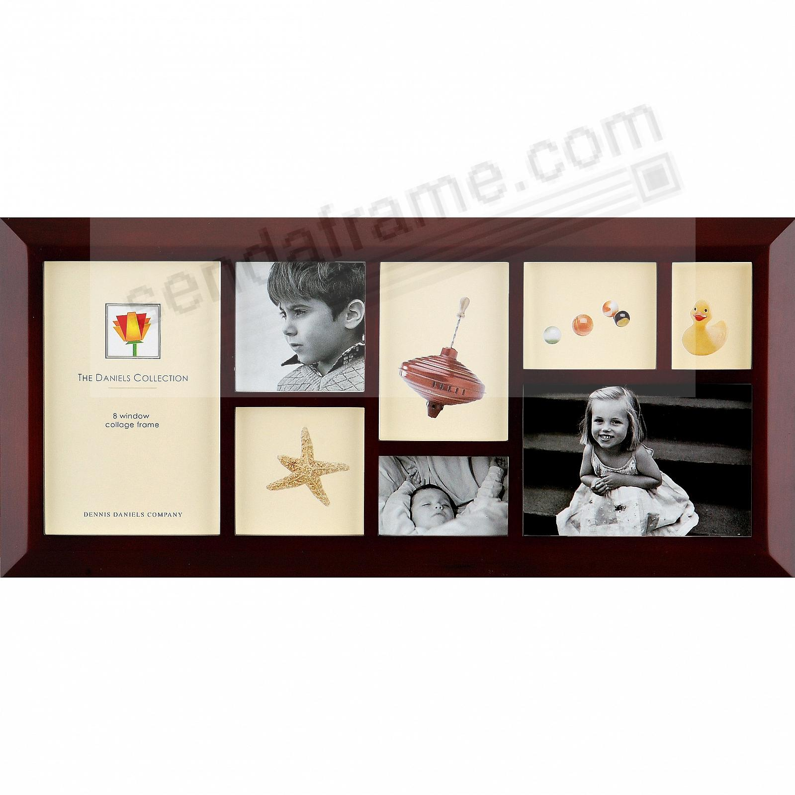 Picture frames photo albums personalized and engraved digital popular 8in1 collage in bevelled darkwalnut stain by dennis danielsreg jeuxipadfo Choice Image