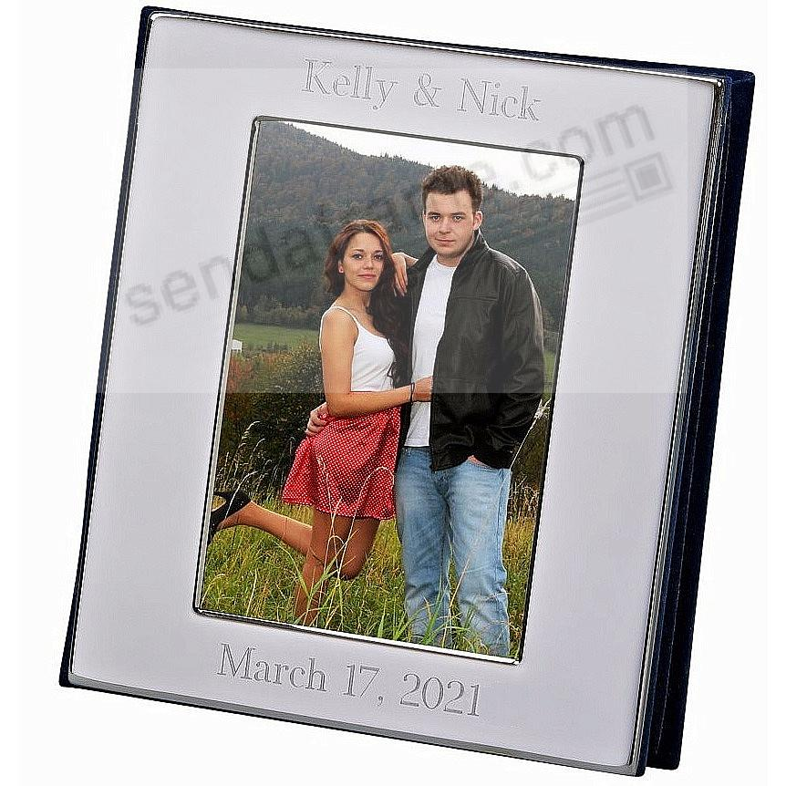 Polished Nickel-Silver Album with Window Cover holds 100 photos