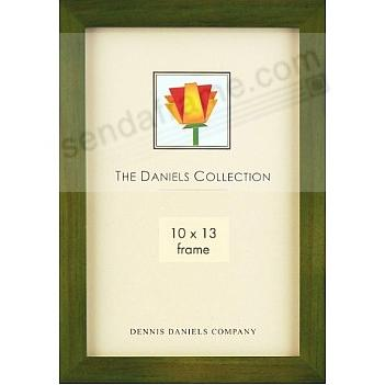 The Original DANIELS W41: Square Corner GALLERY WOODS Green-stained hardwood by Dennis Daniels®