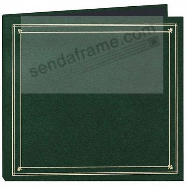 12-at-a-time<br>ELITE Hunter-Green 4x6 pocket album