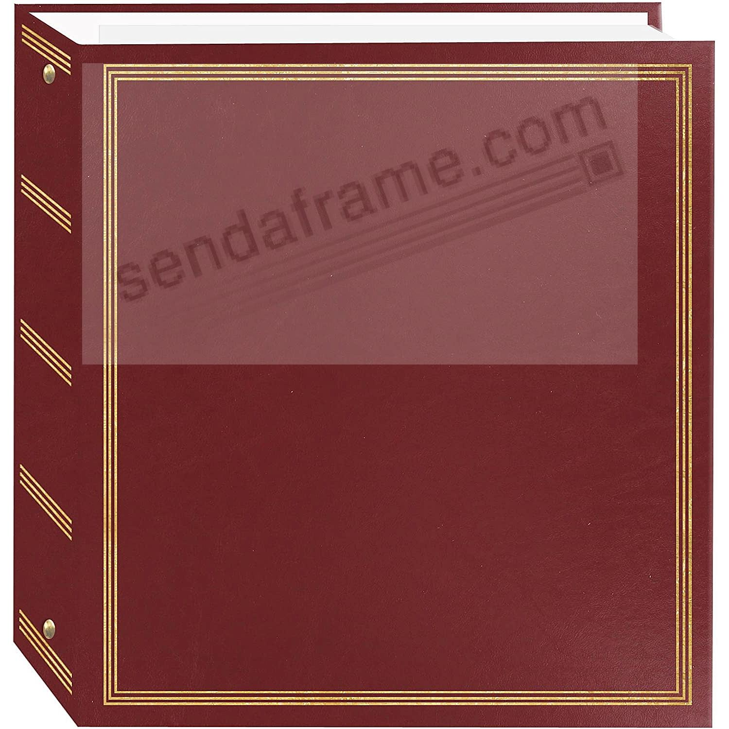 BROOKFIELD EZ-stick BURGUNDY<br>magnetic page 3-ring print and scrapbook album
