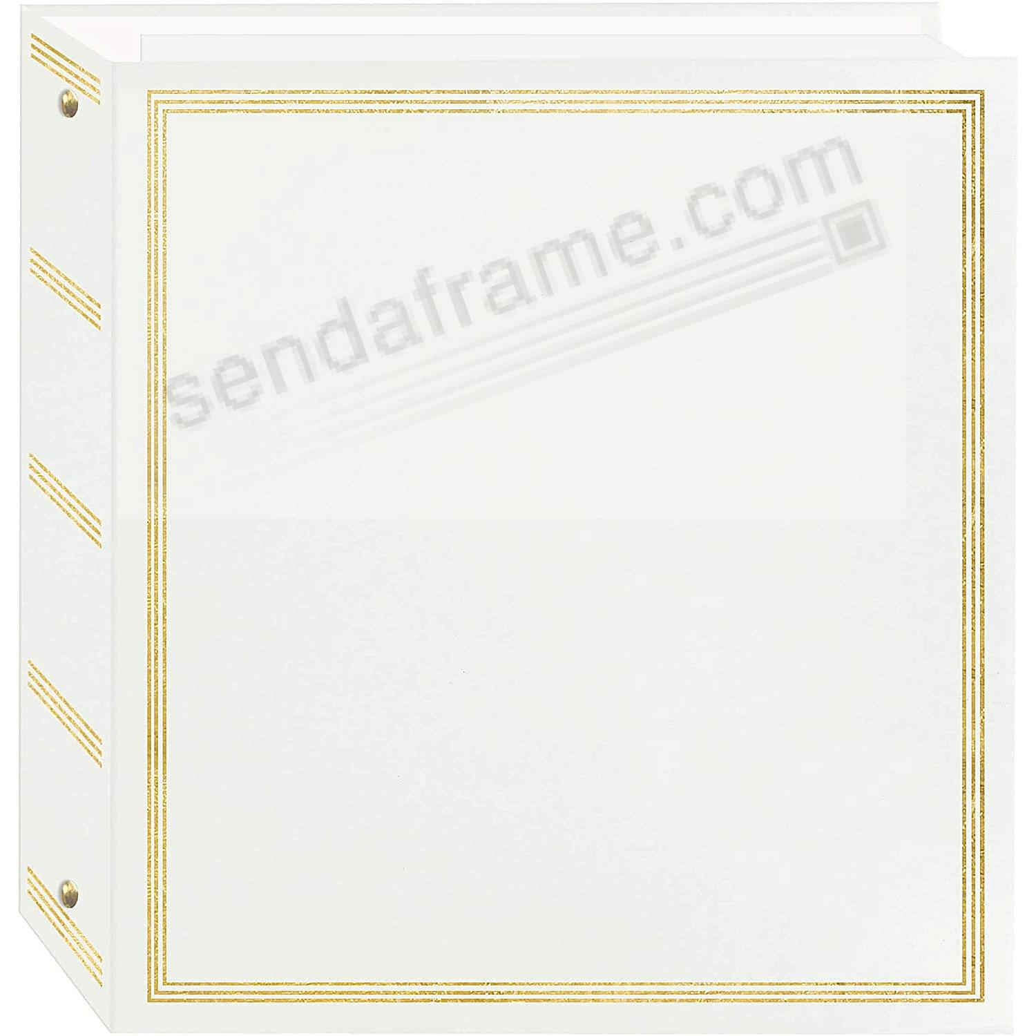 BROOKFIELD EZ-stick WHITE<br>magnetic page 3-ring photo and scrapbook album