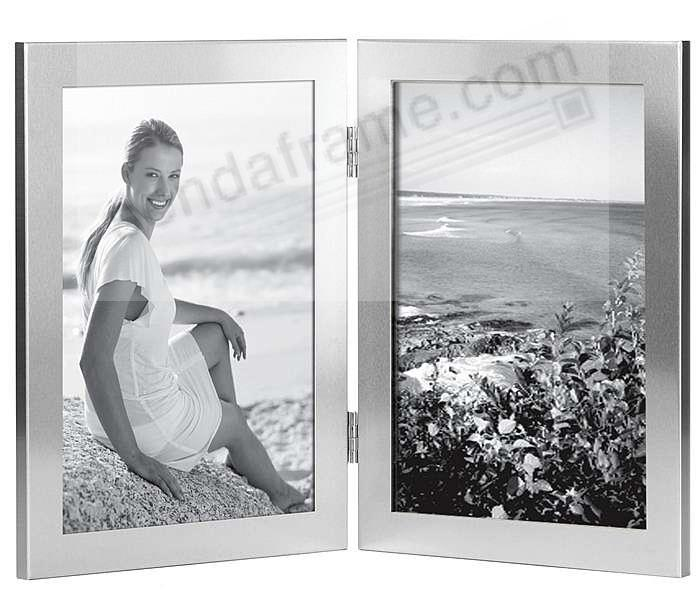 2-opening Silver Hinged/Folding 5x7 frame by Carr® - Picture Frames ...