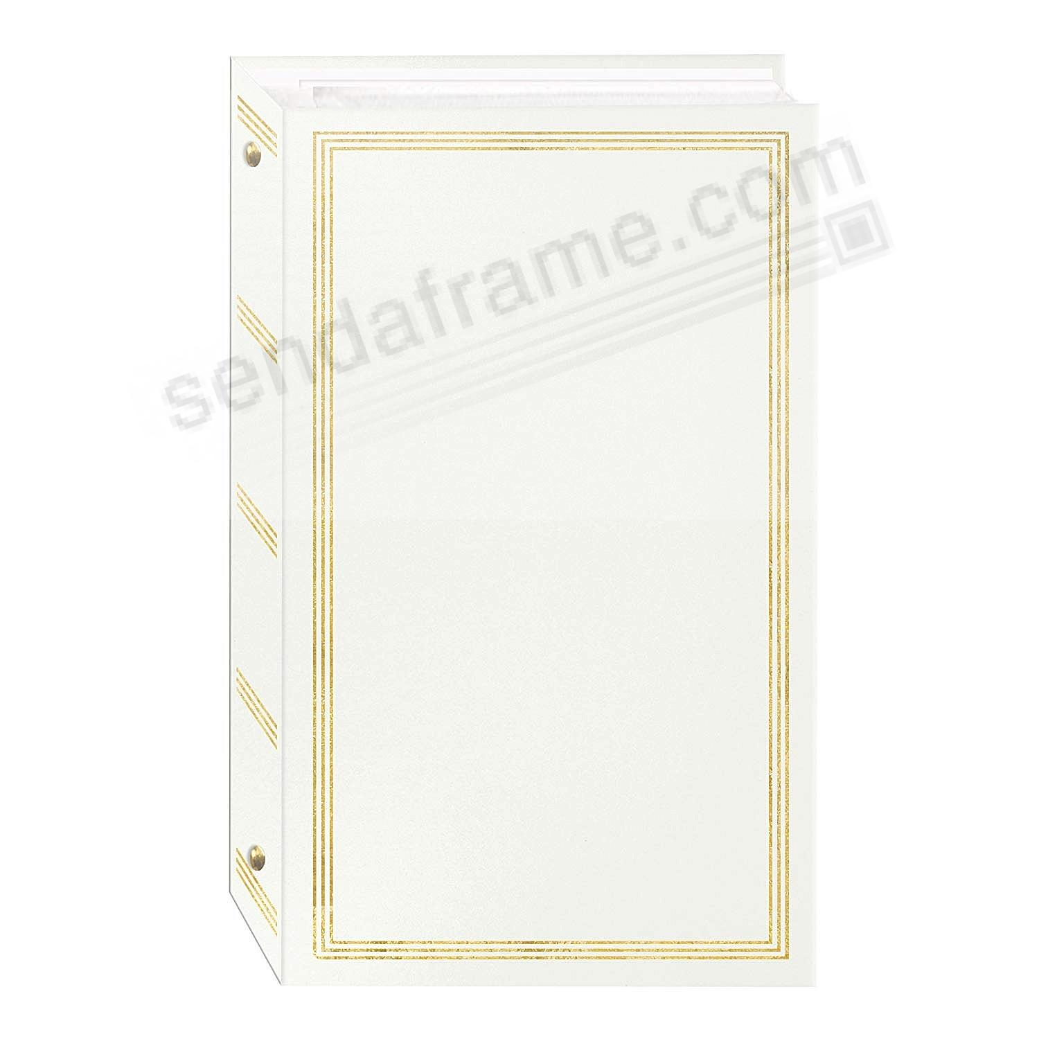 3-ring slip-in pocket WHITE binder album for 300+ 4x6 photos