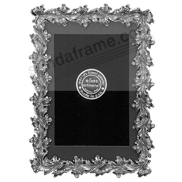 MAPLE LEAF silvered fine pewter 4x6/3½x5½ frame by Elias Artmetal®