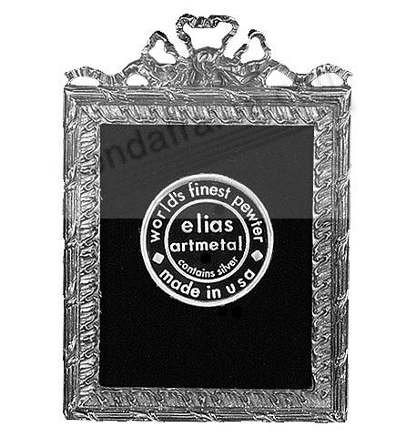 CARVED SCROLLING RIBBON Fine Silvered Pewter<br>by Elias Artmetal&reg;
