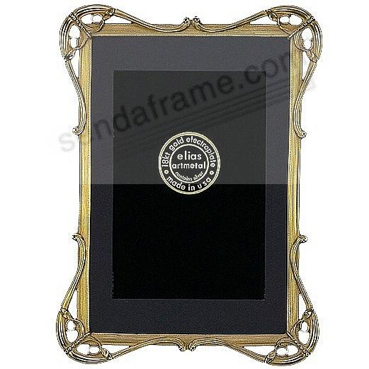 FINA 18kt Museum Gold over Fine Pewter 5x7/4x6 frame<br>by Elias Artmetal&reg;