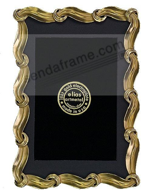 ICING 18kt Museum Gold over fine Pewter 8x10/7x9 frame<br>by Elias Artmetal&reg;