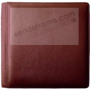 ROMA RED Grain Leather #105 Album w/5-at-a-time pages by Raika®