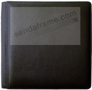 SANTA FE BLACK grain leather #105 album with 5-at-a-time pages by Raika®