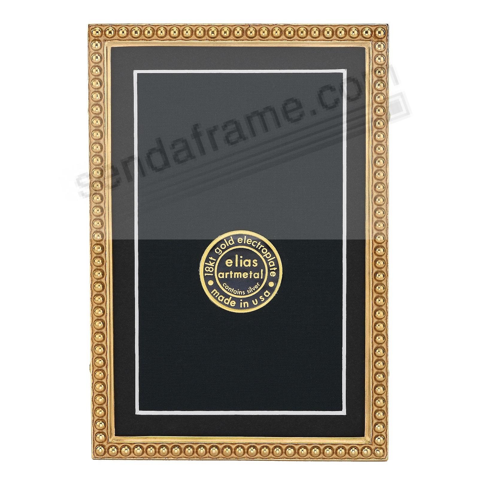 JUST BEADS 18kt Museum Gold over Fine Pewter Gold 4x6/3&frac12;x5&frac12; frame<br>by Elias Artmetal&reg;