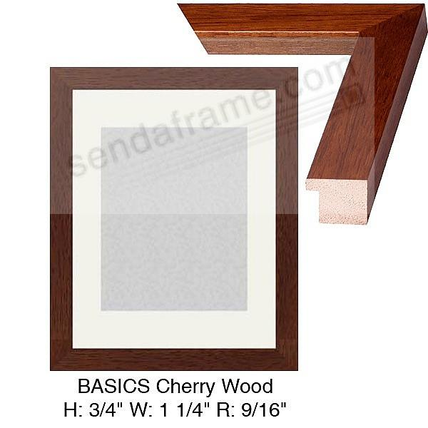 Elegant Custom-Cut BASICS™ Cherry Wood H:¾ W:1-¼ R:9/16