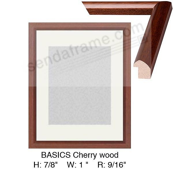 Custom-Cut BASICS Cherry wood stain H:7/8 W:1 R:9/16