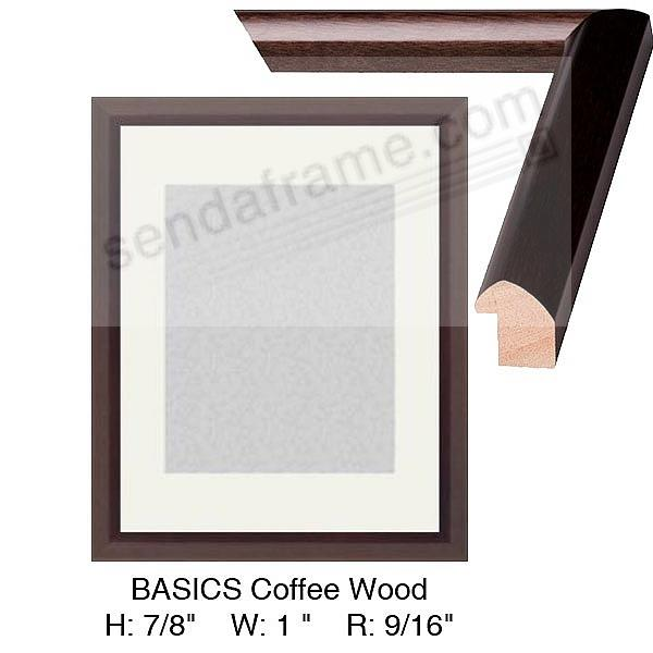 Custom-Cut BASICS™ Coffee wood stain H:7/8 W:1 R:9/16