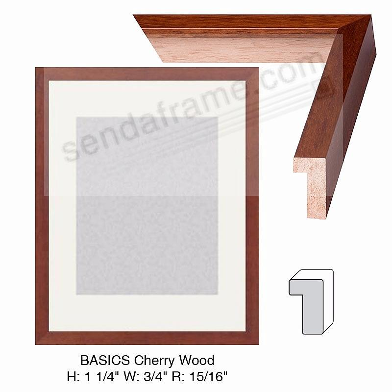 Custom-Cut BASICS™ Cherry Wood H:1-1/4 W:3/4 R:15/16