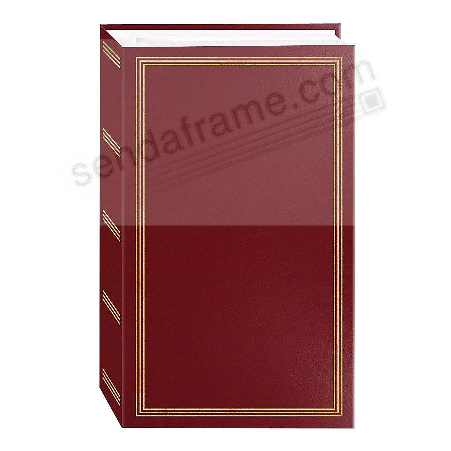 3-ring pocket BURGUNDY album for 500+ photos by Pioneer®