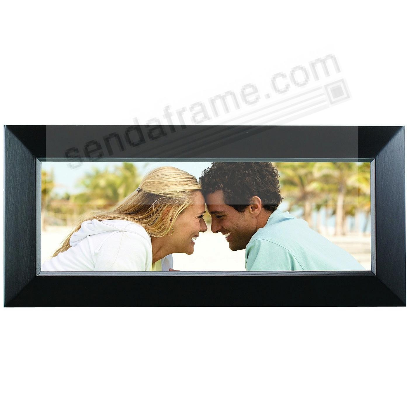 dakota ebony black panoramic pine frame by prinz
