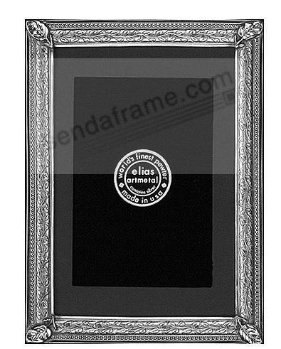 LILY PAD fine Silvered Pewter table 4x6/3x5 frame<br>by Elias Artmetal&reg;