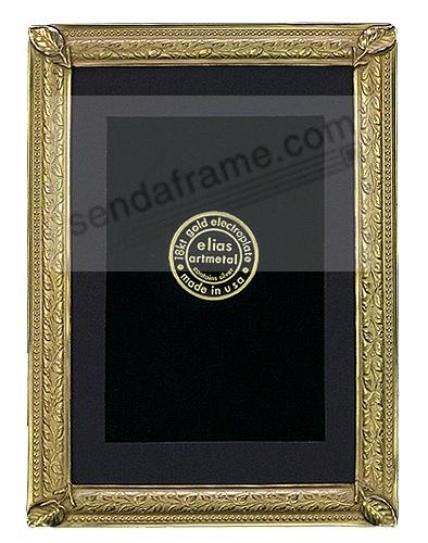 LILY PAD 18kt Museum Gold fine Vermeil wall 4x6/3x5 frame by Elias Artmetal®