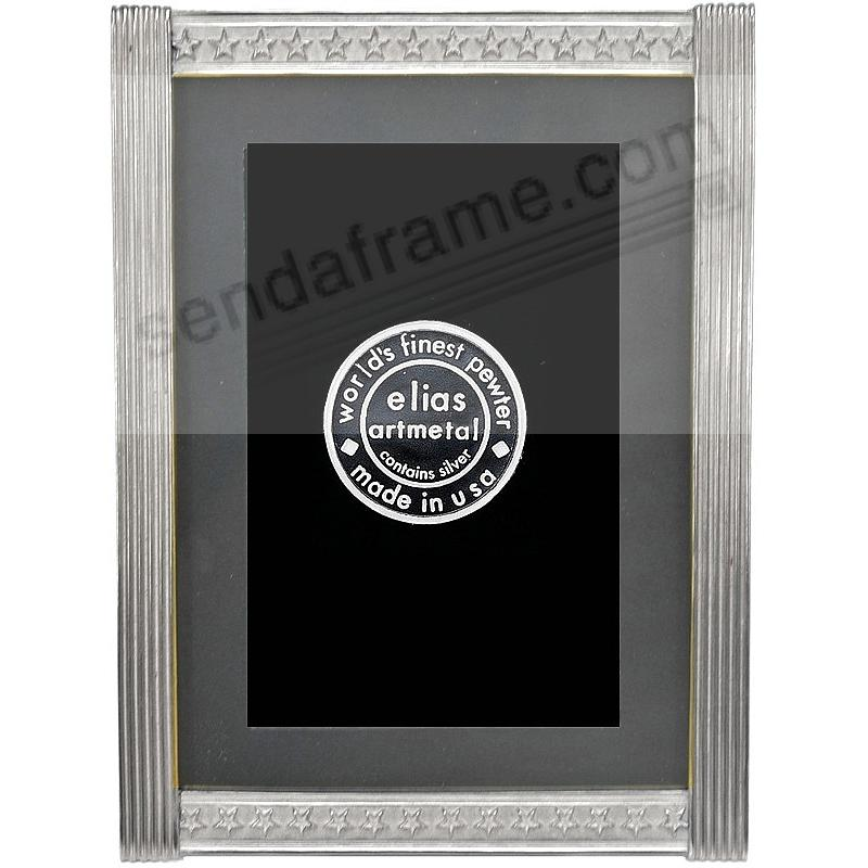 STARS & STRIPES silvered pewter table frame<br>by Elias Artmetal&reg;