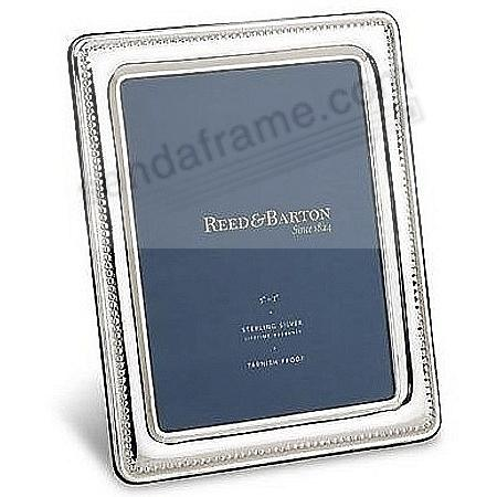 Beaded Fine Sterling Silver 5x7 frame by Reed & Barton® - Picture ...