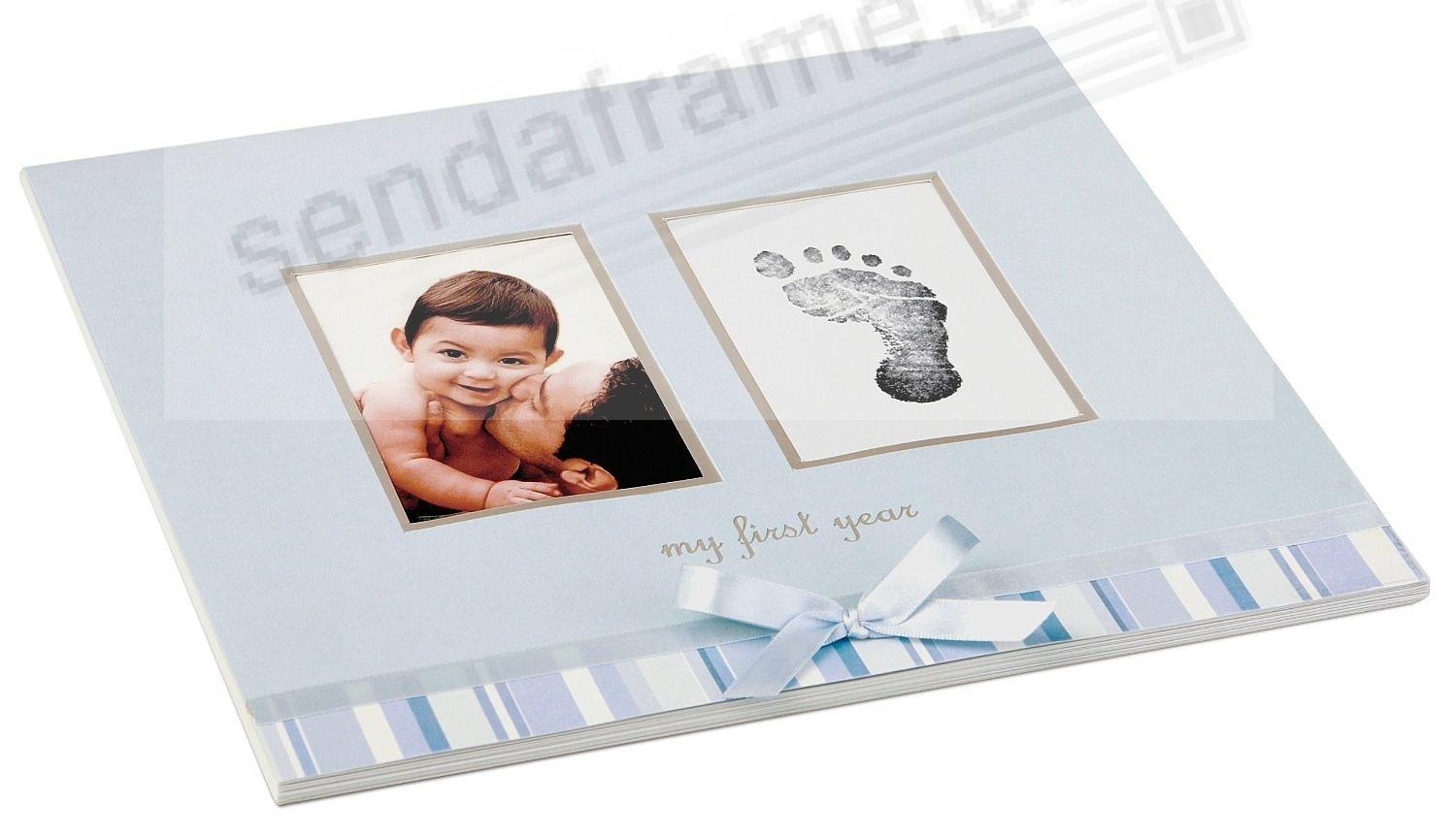 My First Year Blue Baby Calendar By Babyprints Picture Frames