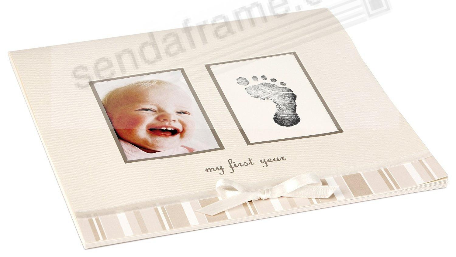 My First Year Ivory Baby Calendar By Babyprints Picture Frames