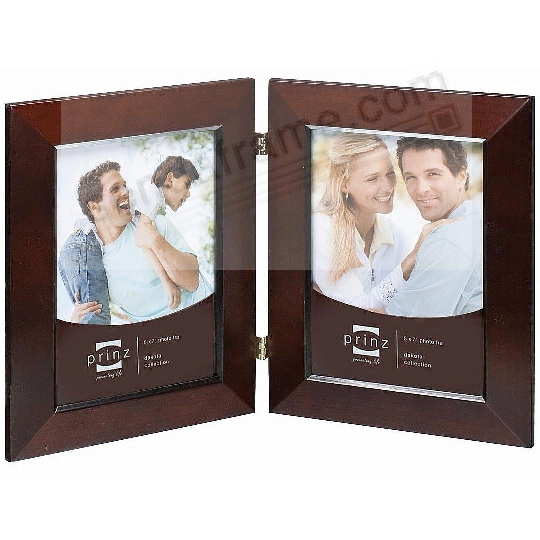 Picture frames photo albums personalized and engraved digital dakota dark walnut beveled hinged 5x7 double by prinzreg jeuxipadfo Images
