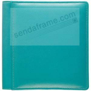 Turquoise RODEO pebble-grain leather #101 album with fold-out pages by Raika®