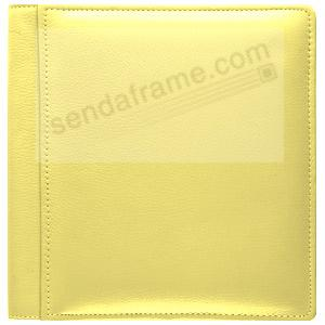 Yellow pebble grain leather #101 album with fold-out pages by Raika®