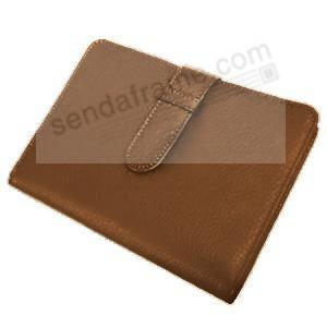 Tan smooth leather brag book by Raika®