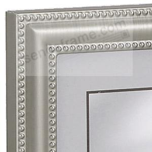 pewter double hinged landscape 6x4 frame wdouble bead trim