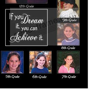 If You Dream It School Photos Collage Keepsake Piece By Malden