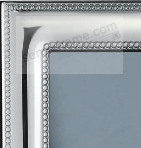 luxurious monaco beaded border sterling silver frame by zaramella argenti italia