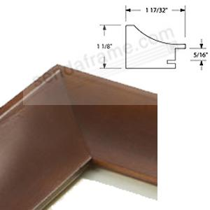 5f30897260c9 Walnut FAMILY matted scoop profile wood frame 8x10 11x14 from ARTCARE by  Nielsen.