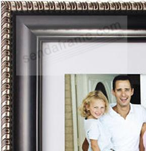 dorset black wsilver trim 14x1810x13 beveledmatted frame by malden design