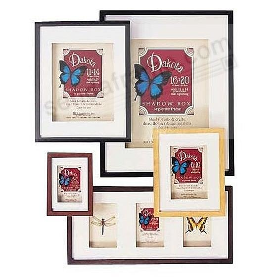 Dakota Black-Stain Shadow Box 9x12/3-4x6 frame w/ivory mat by MCS ...