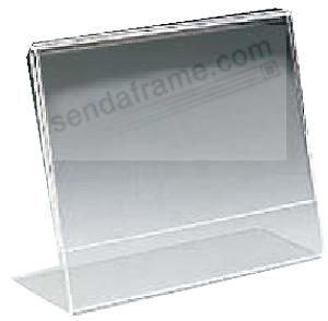 Ultra Clear Acrylic Bent L Base Tabletop Frames Landscape By Mcs