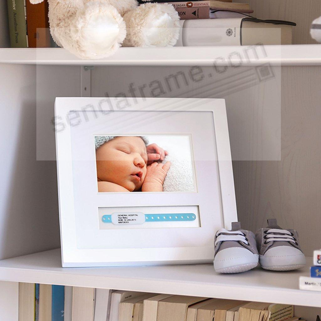 Babyprints® ID Bracelet (Small) White Wood Frame - Picture Frames ...
