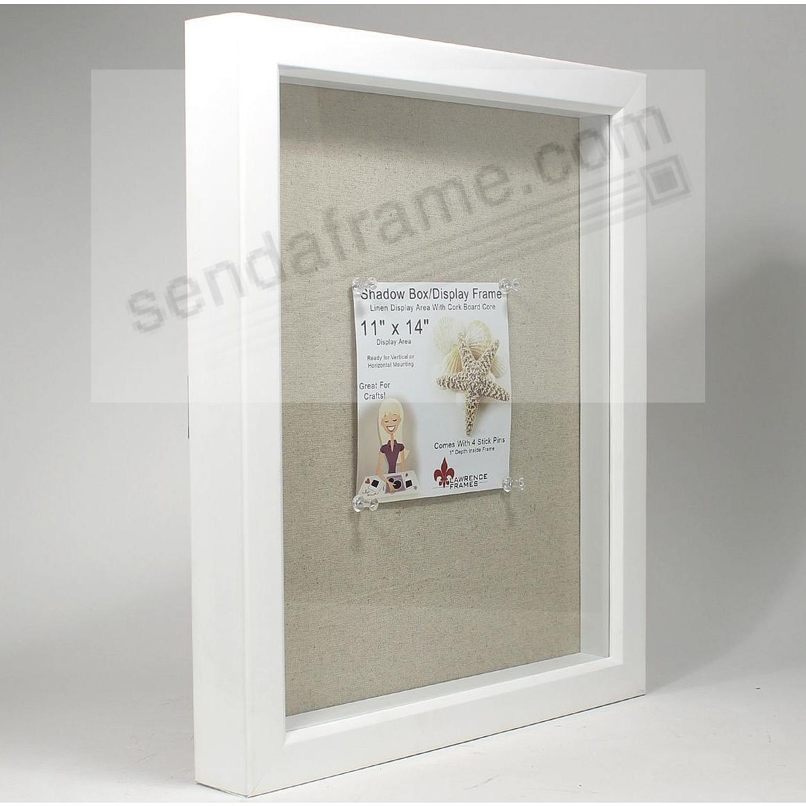 White Deep Craft Linen-lined 11x14 ShadowBox by Lawrence® - Picture ...