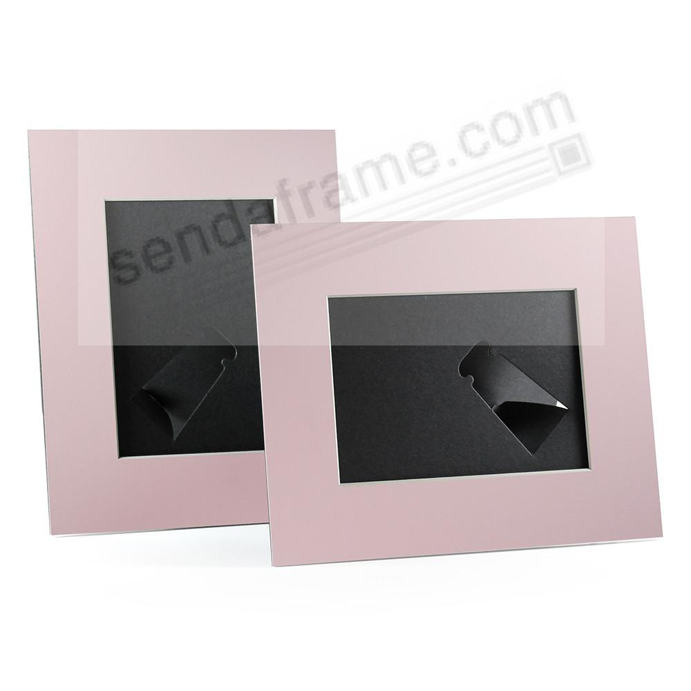 PINK/White Core BEVEL-CUT Easel 8x10 Frame Paper Stock (sold in 6s ...