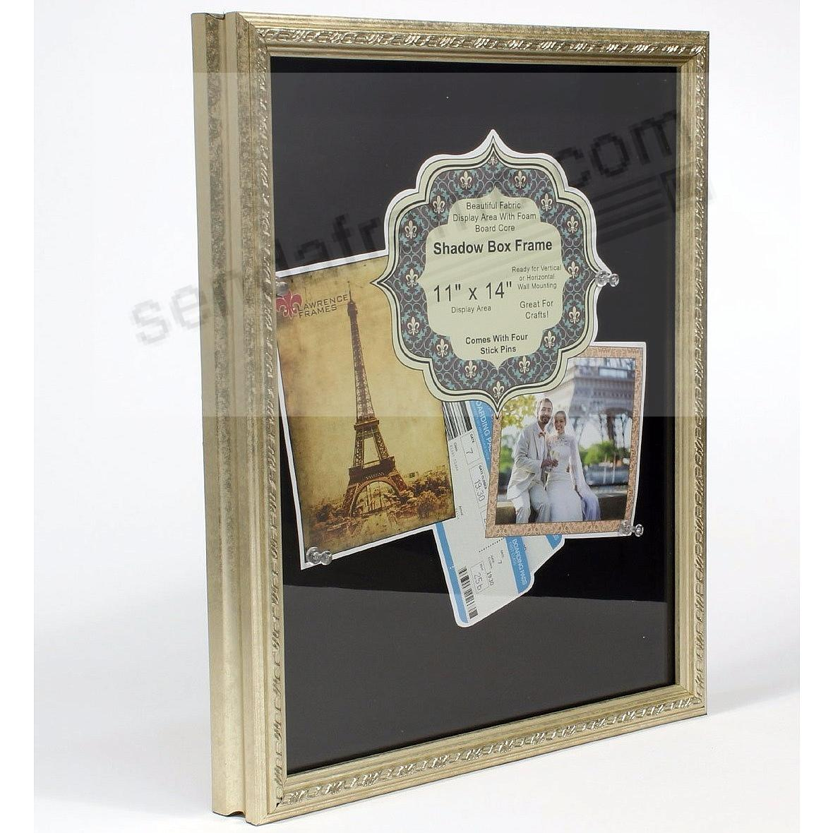 Silver deep craft frame with decorative border trim 11x14 silver deep craft frame with decorative border trim 11x14 shadowbox by lawrence jeuxipadfo Gallery