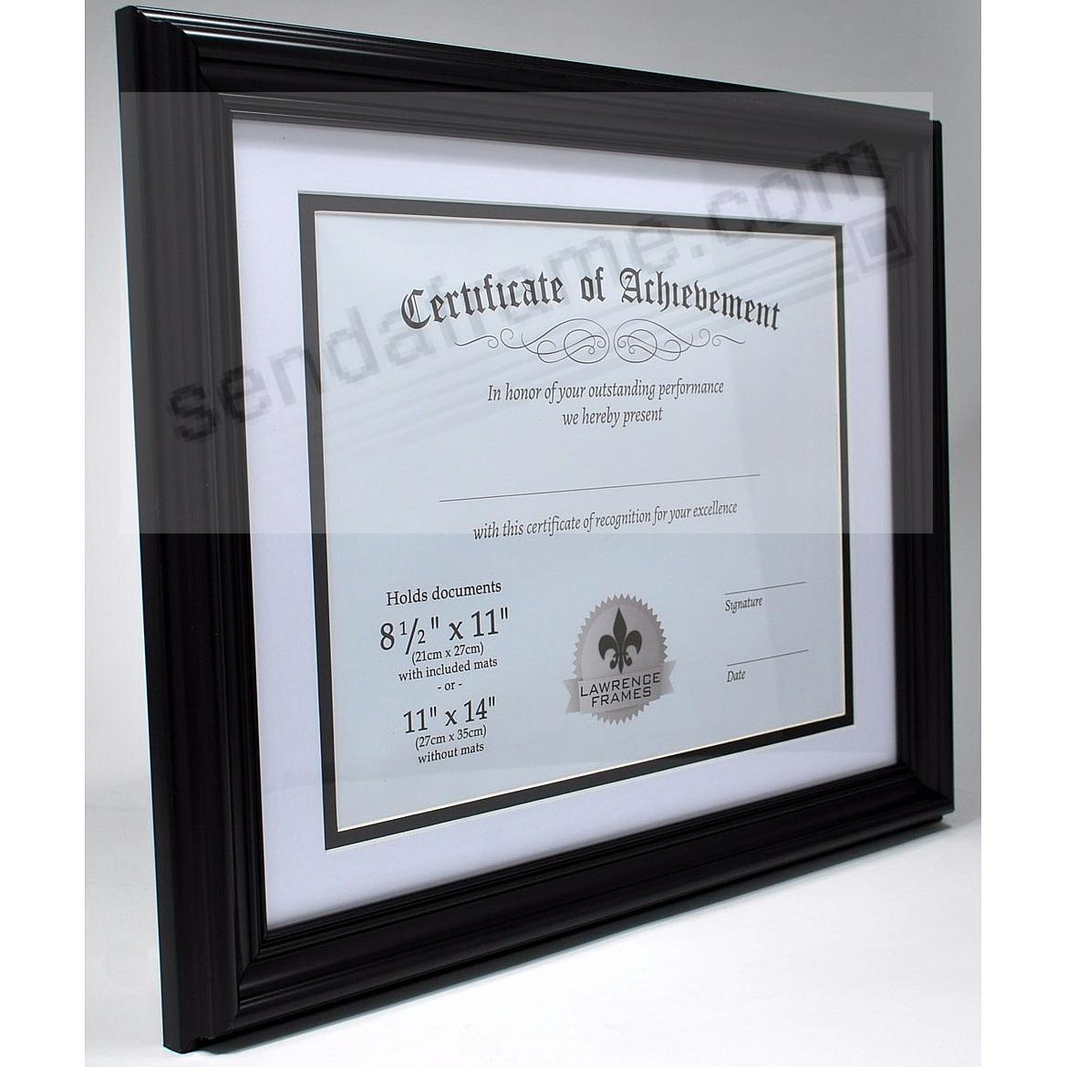 black document frame wbevelled mat 14x1111x8 by lawrence frames