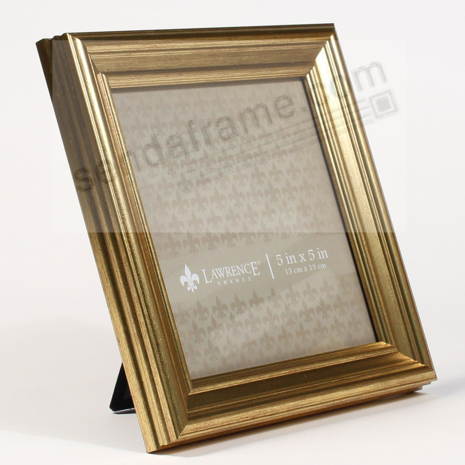 SUTTER Burnished Gold composite-wood 5x5 frame by Lawrence ...
