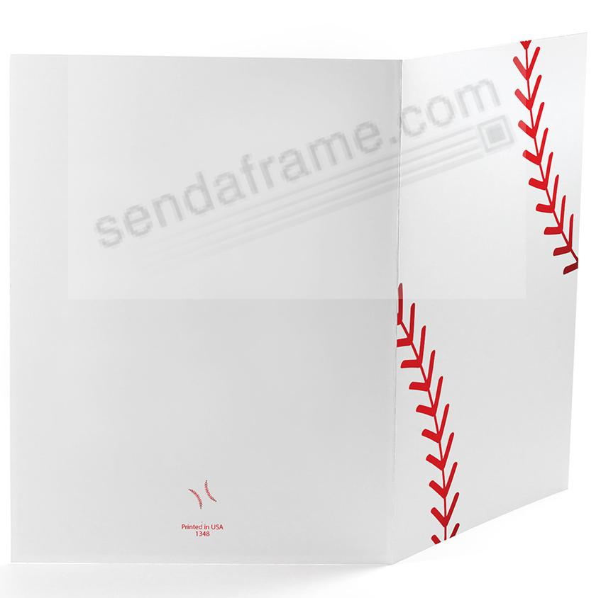 BASEBALL STITCHING Cardboard Photo Folder for 4x6 prints - Picture ...